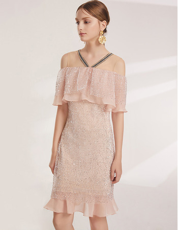Inexpensive Off-the-shoulder Short Lace Cocktail/ Holiday Dress