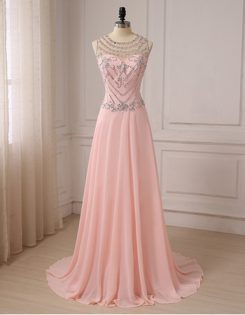2019 New Style Floor Length Chiffon Evening/ Prom/ Formal Dress