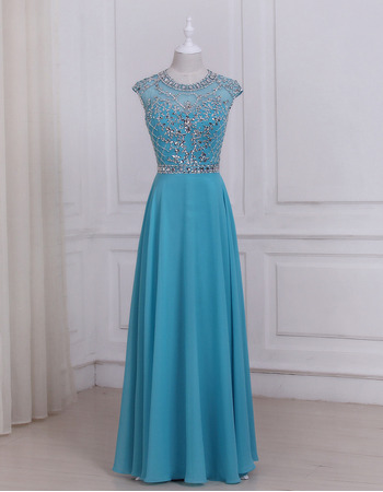Inexpensive Floor Length Chiffon Evening/ Prom/ Formal Dress