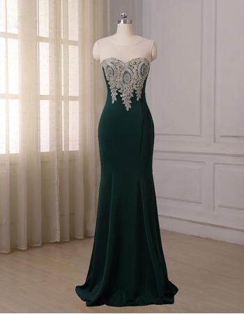 Discount Mermaid Floor Length Satin Evening/ Prom/ Formal Dress