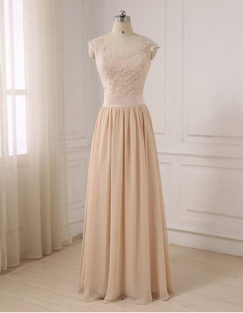 Elegant Sweetheart Floor Length Chiffon Evening/ Prom/ Formal Dress