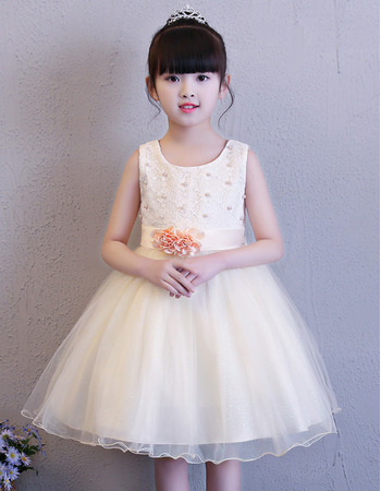 Adorable Ball Gown Mini/ Short Flower Girl Dress for Wedding