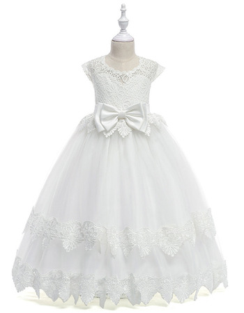 Adorable Ball Gown Floor Length Flower Girl Dress for Wedding