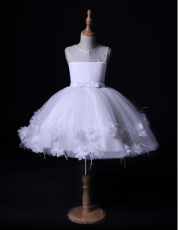 Lovely Ball Gown Mini/ Short Flower Girl Dress for Wedding