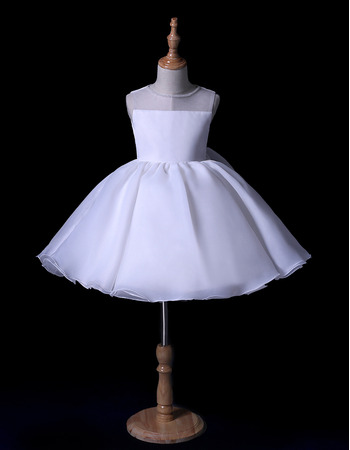 2019 New Style Ball Gown Mini/ Short Flower Girl Dress for Wedding