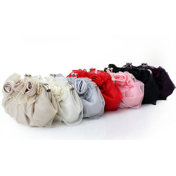 Organza Evening Handbags/ Purses/ Clutches with Flowers