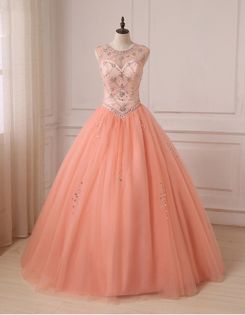 2019 New Style Ball Gown Floor Length Prom/ Quinceanera Dress