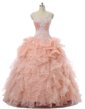 Custom Ball Gown Sweetheart Floor Length Prom/ Quinceanera Dress