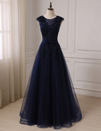 2019 New Style A-Line Floor Length Prom/ Party/ Formal Dress