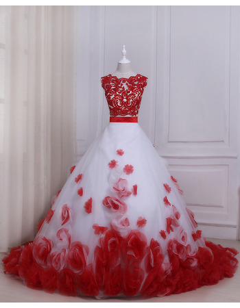 2019 Ball Gown Floor Length Prom/ Quinceanera Dress with Rosette
