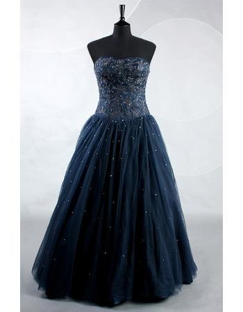 Custom Sweetheart Floor Length Beading Prom/ Party/ Formal Dress