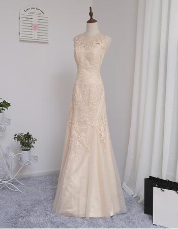 Elegant Sleeveless Floor Length Tulle Prom/ Party/ Formal Dress