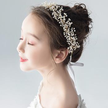 Pearl Kids Girls Hoop Hairband Headband Hair Accessory for Wedding