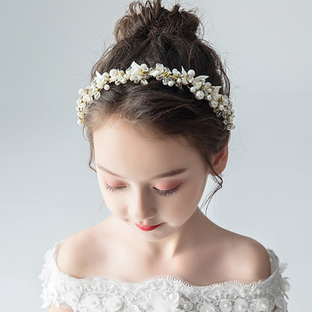 Pearl Kids Girls Hoop Hairband Headband Hair Accessory for Wedding