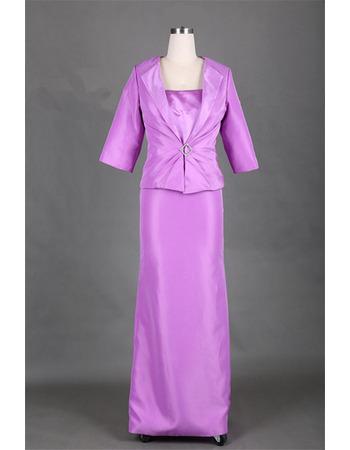 Custom Floor Length Satin Mother Dress with Jackets for Wedding