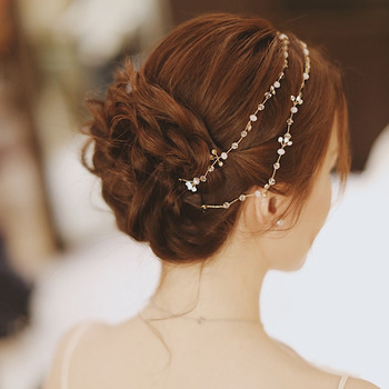 Alloy with Pearl and Rhinestone Wedding Headpieces/ Fascinators