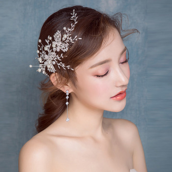 Alloy with Pearl Wedding Headpieces/ Fascinators for Brides