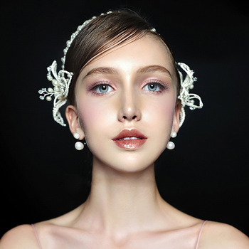 Bead Pearl Wedding Headpieces/ Fascinators for Brides
