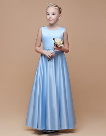 Stunning A-Line Satin Junior Bridesmaid Dress