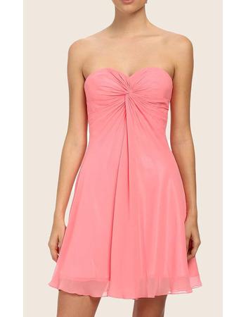 Simple Sexy Sweetheart Sleeveless Chiffon Short Homecoming Dress