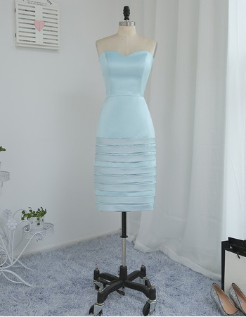 Designer Bodycon Sweetheart Short Satin Mother Dress with Jackets