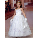 Ball Gown Ankle Length Organza First Communion/ Flower Girl Dres