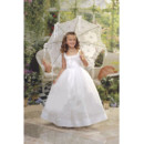 Ball Gown Full Length Taffeta First Communion/ Flower Girl Dress