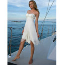Simple Summer Custom Sweetheart Chiffon Short Beach Wedding Dress