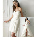 Modern Sheath Sweetheart Mini Reception Wedding Dress/ Chic Petite Bridal Dress with Detachable Trains