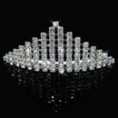Inexpensive Beautiful Alloy With Rhinestone Bridal Wedding Tiara