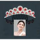 Inexpensive Beautiful Alloy With Zircon Bridal Wedding Tiara