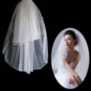 Affordable 2 Layers Tulle Wedding Veil with Beading for Bride