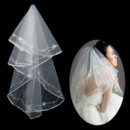 Beautiful 1 Layer Tulle Wedding Veil with Applique for Bride
