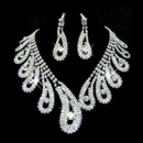 Pretty Crystal Earring Necklace Set Wedding Bridal Jewelry Collection