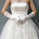 Inexpensive Beautiful Elastic Satin Elbow Wedding Gloves with Applique