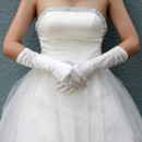 Beautiful Elastic Satin Elbow Wedding Gloves for Bride