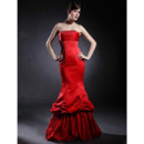 Chic Mermaid/ Trumpet Strapless Long Prom Evening Dress for Women