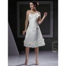 Vintage A-Line Strapless Short Wedding Dress for Petite Brides