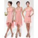 Affordable Short Chiffon Bridesmaid Dress for Maid of honour