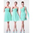 Discount Elegant A-Line Short Chiffon Bridesmaid Dress for Maid of honour