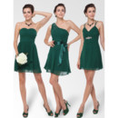 Affordable Custom Sexy A-Line Short Chiffon Bridesmaid Dress for Maid of honour