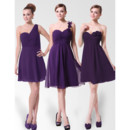 Discount A-Line Short Chiffon Bridesmaid Dress for Maid of honour