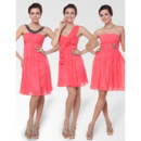 Elegant and Stylish Empire Short Chiffon Bridesmaid Dress for Maid of honour