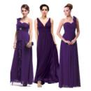 Affordable Sexy Sheath Floor Length Chiffon Bridesmaid Dress