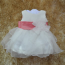 Adorable Ball Gown Tea Length Organza Little Girl Party Dress