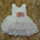 Custom Ball Gown Knee Length Chiffon Little Girls Party Dress