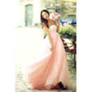 Affordable Simple Empire Strapless Satin Sweep Train Wedding Dress