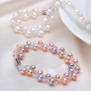 Affordable Multicolor 6 - 7mm Freshwater Off-Round Pearl Bracelet