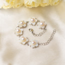 Inexpensive White 6-7mm Freshwater Natural Off-Round Bridal Pearl Bracelets
