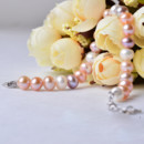 Affordable Multi Color 7-8mm Freshwater Natural Off-Round Bridal Pearl Bracelets